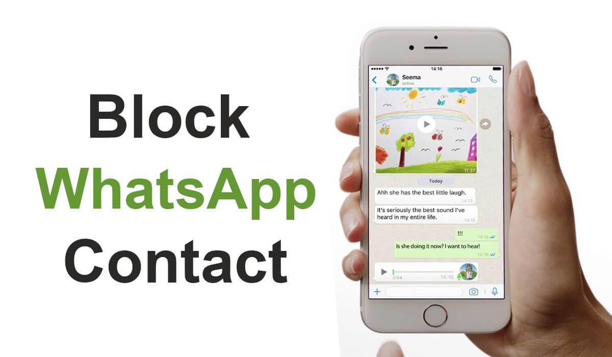 how to block on whatsapp